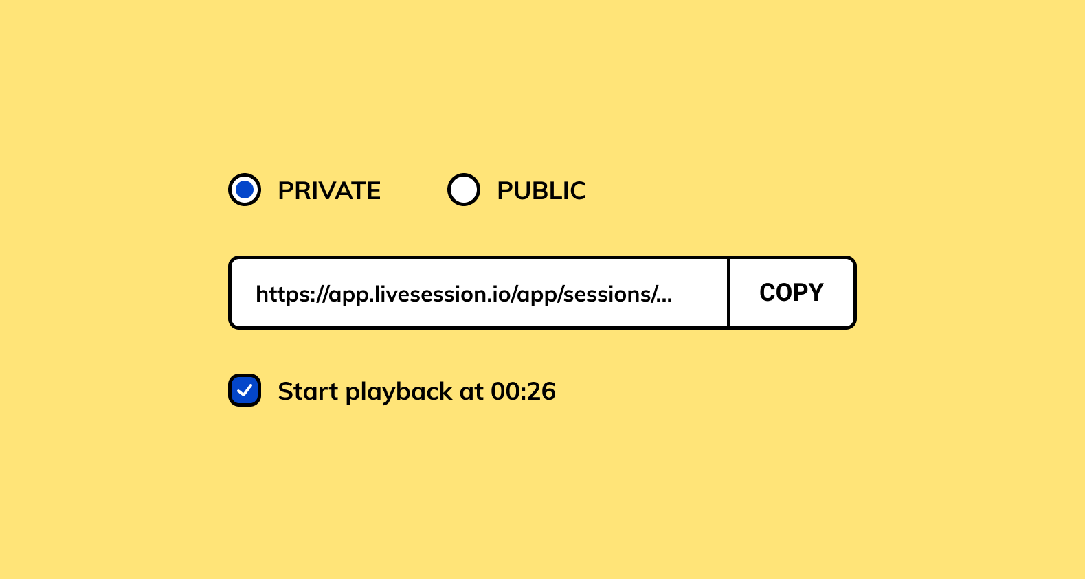 Product update - LiveSession session sharing